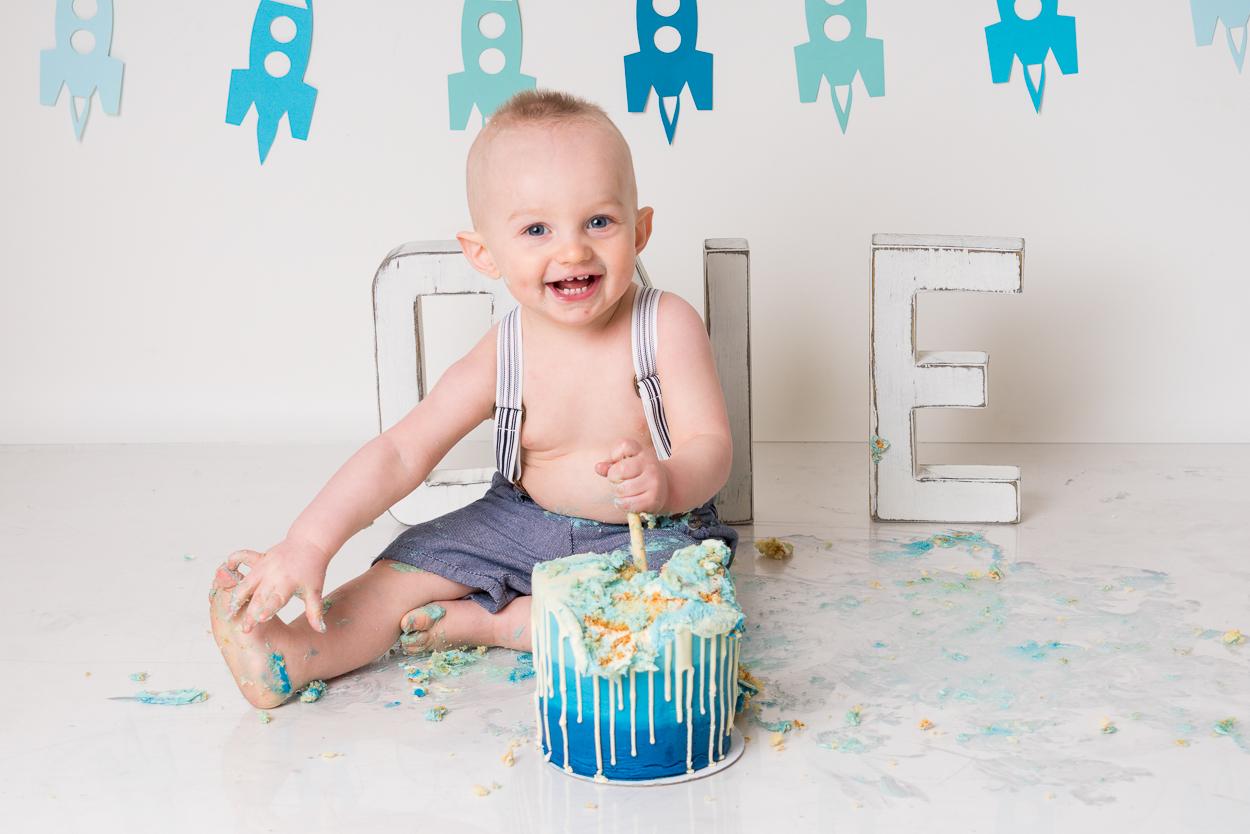 Cake birthday portrait